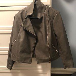 Gray Leather Jacket